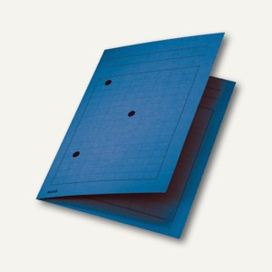 LEITZ Umlaufmappe DIN A4, 320 g/m², mit 3 Schaulöchern, blau, 39980035