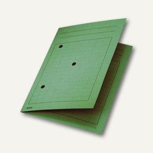 LEITZ Umlaufmappe DIN A4, 320 g/m², mit 3 Schaulöchern, grün, 39980055