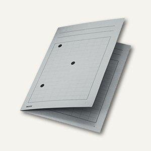 LEITZ Umlaufmappe DIN A4, 320 g/m², mit 3 Schaulöchern, grau, 39980085