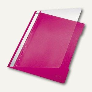 LEITZ Kunststoff-Schnellhefter PVC, DIN A4, 250 Blatt, pink, 4191-00-22