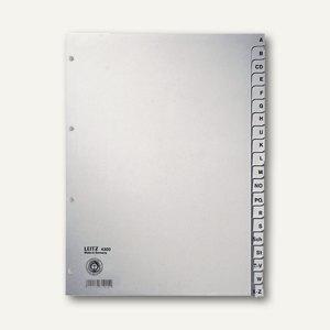 LEITZ Register Papier für DIN A4, 225 x 300 mm, A-Z, 20 Blatt, grau, 4300-00-85