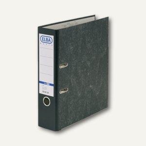 Elba Ordner smart, Wolkenmarmor, Rücken 80mm, schwarz, 100081009