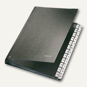 LEITZ Pultordner DIN A4, Fächer A-Z, Hartpappe, schwarz, 5824-00-95