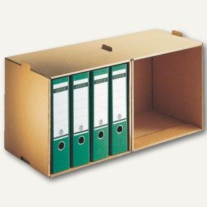 LEITZ Archiv-Depot für Ordner DIN A4, 72x34x30 cm, 5 Stück, 60820000