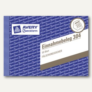 """Zweckform Formularbuch """"Einnahmebeleg"""", DIN A6 quer, 50 Blatt, grün, 304"""