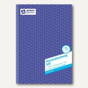 Zweckform Kassenabrechnung, DIN A4, ohne MwSt.-Spalte, 2 x 50 Blatt, 428