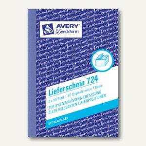 Formular Lieferschein DIN A6 2x50 Blatt