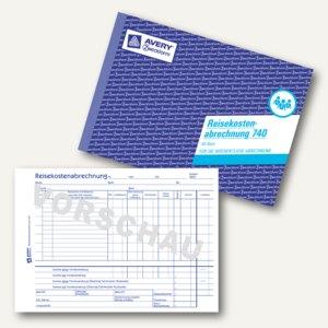 Formular Reisekostenabrechnung - wöchentlich