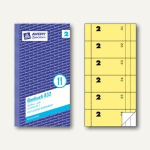 Formular Bonbuch mit Kellner-Nr. 2