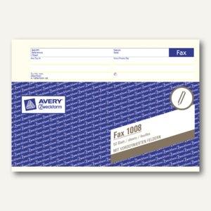 Zweckform Formularbuch Faxvordruck, DIN A5 quer, 50 Blatt, 1008