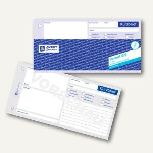 Zweckform Formular Kurzbrief, 1/3 DIN A4, 100 Blatt, 1020