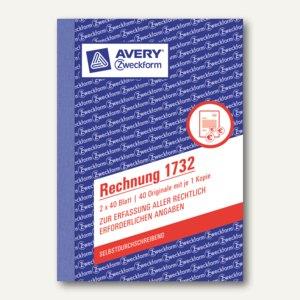 Formular Rechnung DIN A6 selbstdurchschreibend 2x40 Blatt