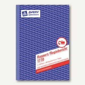Formular Rapport/Regiebericht DIN A5