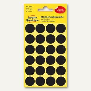 Zweckform Markierungspunkte, rund, Ø 18 mm, schwarz, 96 Stück, 3003