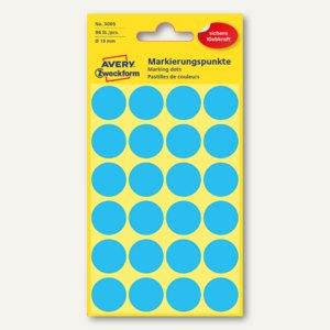 Zweckform Markierungspunkte, rund, Ø 18 mm, blau, 96 Stück, 3005