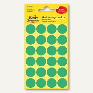 Zweckform Markierungspunkte, rund, Ø 18 mm, grün, 96 Stück, 3006