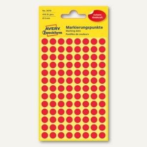 Zweckform Markierungspunkte, rund, Ø 8 mm, rot, 416 Stück, 3010