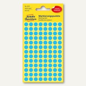Zweckform Markierungspunkte, rund, Ø 8 mm, blau, 416 Stück, 3011