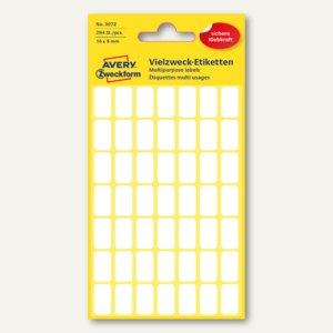 Zweckform Mini-Organisations-Etiketten, 16 x 9 mm, 294 Etiketten, 3072