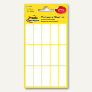 Zweckform Mini-Organisations-Etiketten, 38 x 14 mm, 90 Etiketten, 3076
