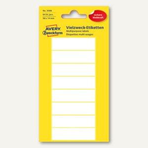 Zweckform Universal-Etiketten, 50 x 14 mm, 64 Etiketten, 3086