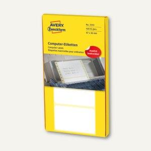 Artikelbild: Adress-Etiketten f. Schreibmaschine