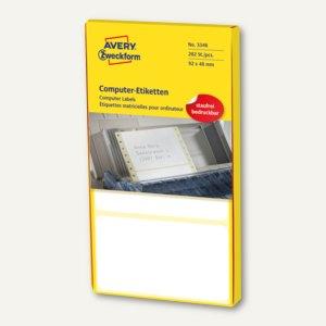 Zweckform Adress-Etiketten f. Schreibmaschine, 92 x 48 mm, 280 St./Rolle, 3346
