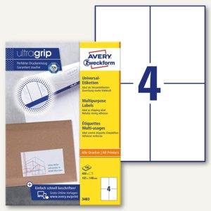 Zweckform Universal-Etiketten, 105 x 148 mm, weiß, 400 Stück, 3483