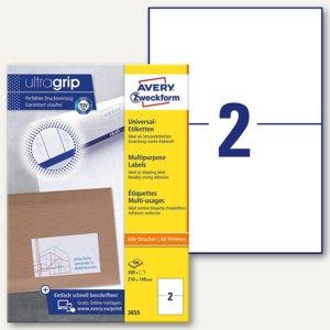 Zweckform Universal-Etiketten, 210 x 148 mm, weiß, 200 Stück, 3655