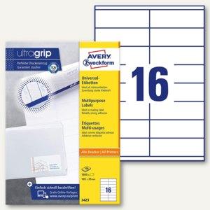 Zweckform Universal-Etiketten, 105 x 35 mm, Rand, weiß, 1.600 Stück, 3423