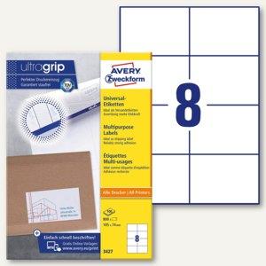 Zweckform Universal-Etiketten, 105 x 74 mm, weiß, 800 Stück, 3427