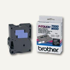 Brother Beschriftungsband 18 mm, weiß auf schwarz, TX-345