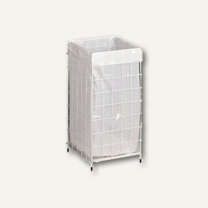 officio Handtuch-Sammelkorb, groß, Drahtgeflecht weiß, 94240