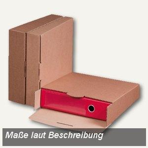 smartboxpro Ordner-Versandbox, für (B)80 mm-Ordner, braun, 212100220