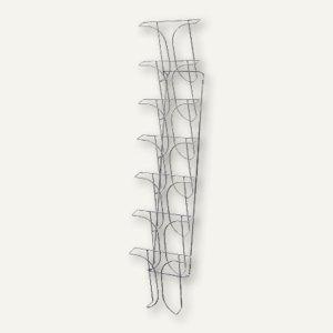 deflect.o Wandprospekthalter, 7 Fächer für DIN A4, chrom, DE78645