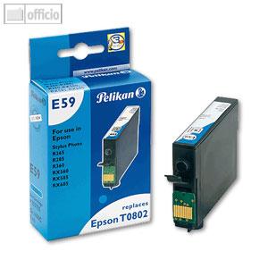 Pelikan Tintenpatrone E59, cyan, kompatibel zu Epson T0802, 9 ml, 359735