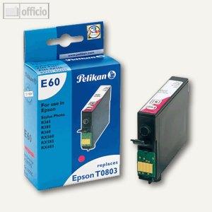 Pelikan Tintenpatrone E60, magenta, kompatibel zu Epson T0803, 9 ml, 359742