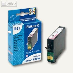 Pelikan Tintenpatrone E63, light magenta, kompatibel zu Epson T0806, 9 ml,359773