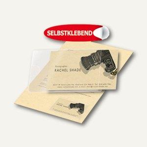 3L Visitenkartentaschen, 60 x 95 mm, zum Einstecken seitlich, 100 Stück, 10109