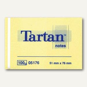 Tartan Haftnotizen Notes, gelb, 51 x 76 mm, 005176