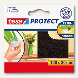 Tesa Filzgleiter rechteckig, 100 x 80 mm, braun, 57891-00001-00