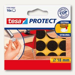 Tesa Filzgleiter rund, ø 18 mm, braun, 16 Stück, 57892-00001-00