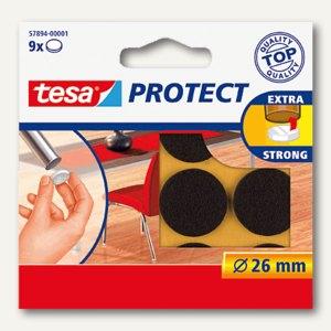Tesa Filzgleiter rund, ø 26mm, braun, 9 Stück, 57894-00001-00