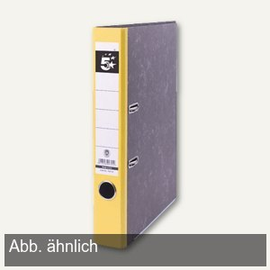 officio Ordner Wolkenmarmor DIN A4, Rückenbreite 50mm, gelb
