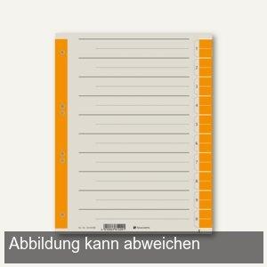officio Trennblätter DIN A4, 230g/m², farbig orange, 100 Stück