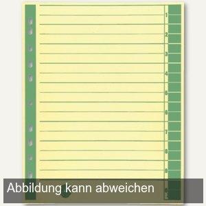 officio Trennblätter DIN A4, 230 g/m², farbig grün, 100 Stück