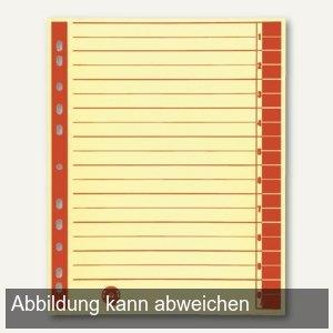 officio Trennblätter DIN A4, 230 g/m², farbig rot, 100 Stück