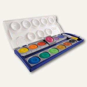 Deckfarbenkasten Schul-Standard K12 - 12 Farben