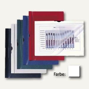 Hetzel Clip-Hefter DIN A4, Fassungsvermögen 30 Blatt, weiß, 14650001