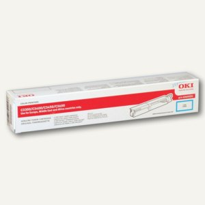 OKI Lasertoner für C3300/3400/3450/3600, ca. 2.500 Seiten, cyan, 43459331